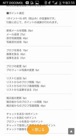 出会い系サイトファイトクラブ:料金表