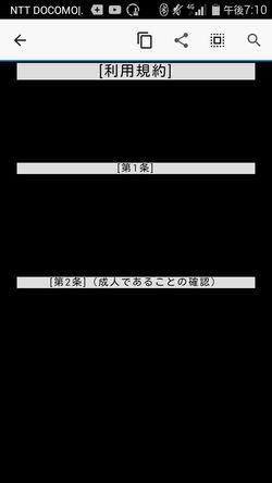 出会い系サイトペラペラ:利用規約黒背景