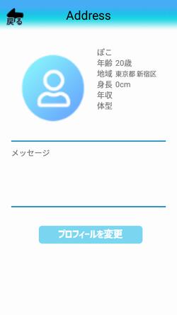 出会い系アプリアドレス:プロフィール