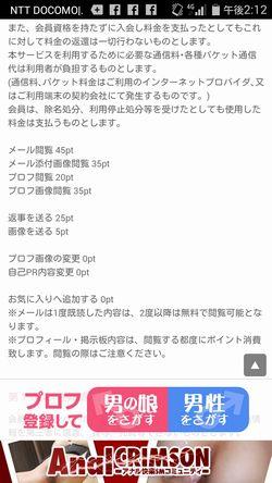 出会い系サイト男の娘れぼりゅーしょん:料金表